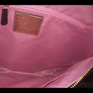Coach Bags - Coach Poppy Signature Dark Brown Metallic Handbag